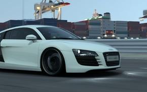 Gran Turismo 6, video games, Audi R8, car, multiple display