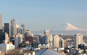 city, Seattle, multiple display
