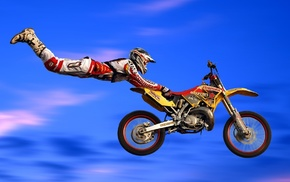 sports, helmet, flying, enduro, men, jumping