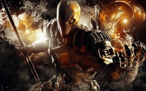 video games, Batman Arkham Origins, video game characters, mask, Deathstroke, warrior