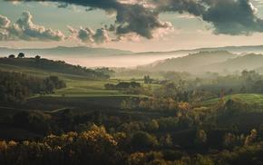 Italy, Tuscany, mountain, fall, nature, trees