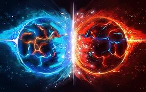 symmetry, blue, video games, Child of Eden, red, Ubisoft