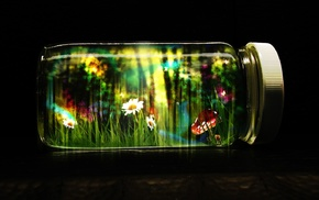 jars, life, magic, mushroom