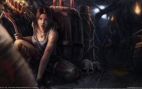 video game characters, video games, video game girls, fan art, Lara Croft, artwork