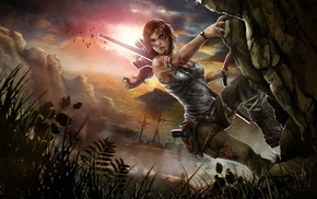 artwork, video game characters, video games, Lara Croft, video game girls, fan art