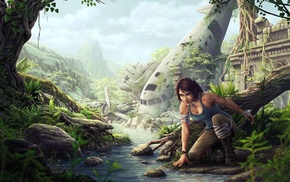 Lara Croft, artwork, video game characters, fan art, video games, Tomb Raider