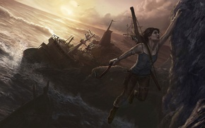 Lara Croft, video games, Tomb Raider, video game characters, fan art, video game girls