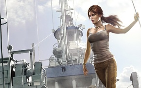 tank top, Tomb Raider, video game characters, Lara Croft, video game girls, artwork