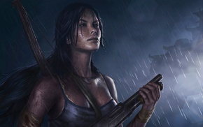 video game girls, fan art, artwork, video games, Lara Croft, video game characters