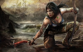 video game characters, video games, Lara Croft, fan art, artwork, Tomb Raider