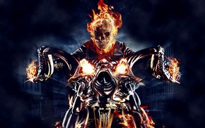 comics, Ghost Rider, skull, fire, graphic novels, motorcycle