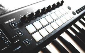 piano, mixing consoles