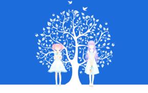 Kaname Madoka, anime girls, Mahou Shoujo Madoka Magica, Akemi Homura, minimalism, anime vectors
