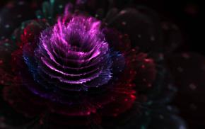 fractal, flowers, CGI, fractal flowers