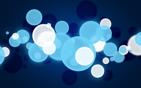 abstract, dots, blue, sphere