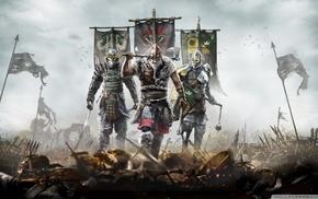 Vikings, samurai, sword, For Honor
