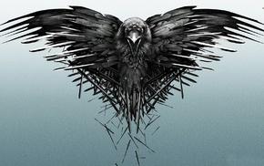 Game of Thrones, crow, sword
