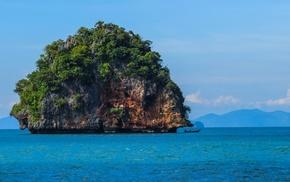 sea, Thailand, limestone, landscape, nature, huge