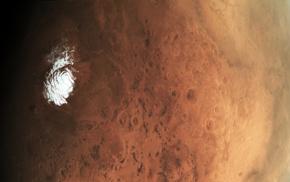 Mars, northpole, ESA, space