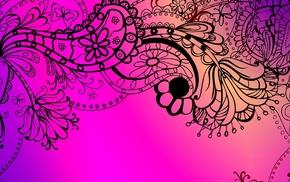 vector art, pink background