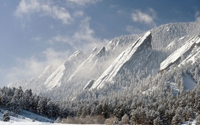 mountain, snow, landscape, clouds, Boulder, Colorado