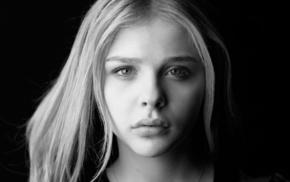 monochrome, Chlo Grace Moretz, vectors, face, celebrity, vector art