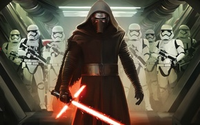 Kylo Ren, Star Wars, Star Wars Episode VII, The Force Awakens, stormtrooper