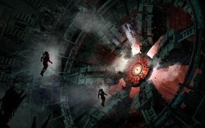 spacesuit, space, artwork, digital art, space station