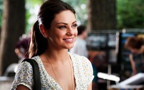 brunette, actress, smiling, Mila Kunis