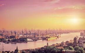 cranes machine, Hamburg