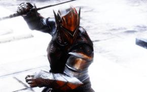 video games, The Elder Scrolls V Skyrim, armor, sword, warrior