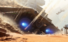 desert, soldier, EA DICE, battle, Star Wars, AT