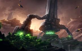 landing, landscape, video games, nature, fantasy art, Endless Legend