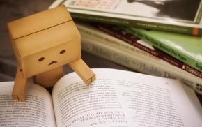 books, cardboard, Danbo