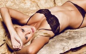 girl, lingerie, blonde, underwear