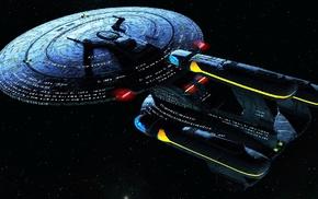 spaceship, futuristic, space, science fiction, Galaxy X Class, Star Trek