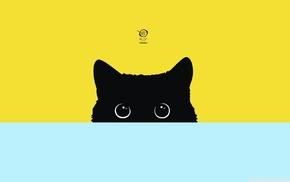 minimalism, digital art, simple, Kitty, cat