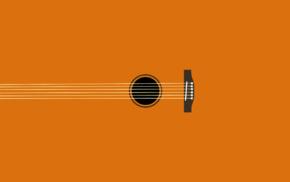 simple, minimalism, guitar, digital art