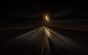rain, midnight, nature, moonlight, landscape, Iowa