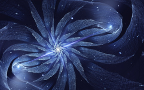 blue, abstract, CGI