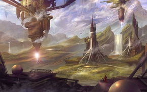 concept art, artwork, futuristic, science fiction