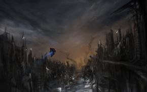 artwork, apocalyptic, futuristic, concept art