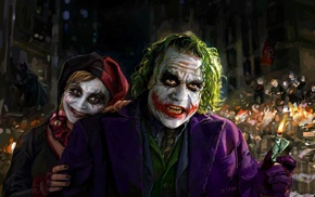 Joker, DC Comics, Harley Quinn, artwork, Batman