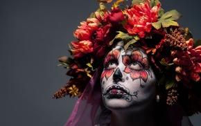 face, girl, Sugar Skull, model