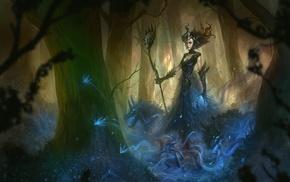 fantasy art, artwork, witch, Maleficent
