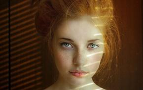 freckles, redhead