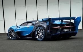 vehicle, blue cars, Bugatti Vision Gran Turismo, car, side view
