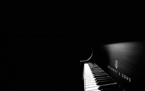 monochrome, piano