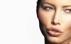 Jessica Biel, green eyes, face