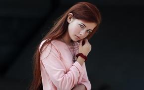 girl, face, redhead, portrait